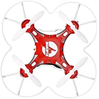 Price comparsion for Mazur FQ777 124 2.4G 4CH Six-axis Gyro Mini Drone 360 Degree Flip Headless Mode One Key Return RC Pocket Quadcopter RTF with Light(color:Red)