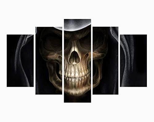 hibia Skelett Teufel Wandbild Halloween Dekoration Requisiten Wandaufkleber, Gelten Für Festival, Tanzparty, Dekoration, 5 Panels, Rahmenlos,M