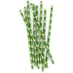 Kikkerland KKCU75 Paille en Papier Bambou Lot de 144 Pièces