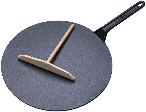 Le Creuset Bretonisch Crêpespfanne + Spachtel + Rechen diam.32 cm Schwarz