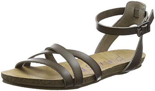 Blowfish Damen Galie Riemchensandalen, Grey (Steel Grey Dyecut PU), 38 EU (Strap Multi Ankle Schuhe)
