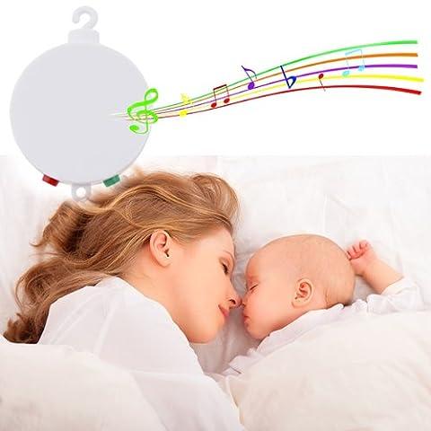 AGPtek® Baby Musikmobile , Elektrische Baby Spieluhr mit Micro-SD-Speicherkarte spielt 12 Melodien und Motor für Drehbewegung eines Mobiles ( CE/RoHs Standard )
