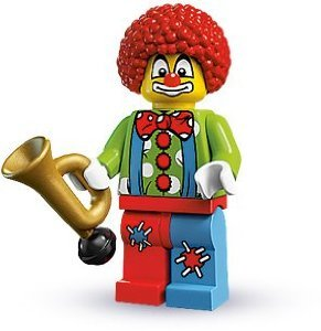 LEGO Collectable Minifigures: Circus Clown Minifigure (Series 1) (Bagged)