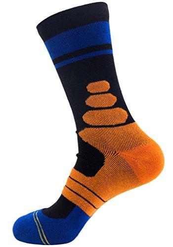 Wantdo-Hombre-Calcetines-Deportivo-sin-costura-Amortiguador-Un-Par