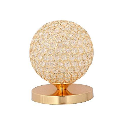 TRADE® Golden K9 Kristall Desktop Lampe Sphärische Dekor Nachttischlampe mit Chrom Finish Base Modern Lese licht Nacht Licht Lampe für Schlafzimmer Wohnzimmer Esszimmer - Moderne Chrom-finish