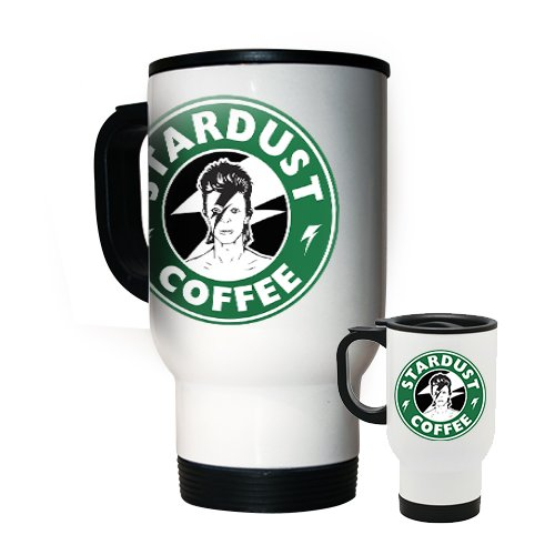 David Bowie Stardust Café 14oz Acero Travel – Taza de café Starbucks – Álbum