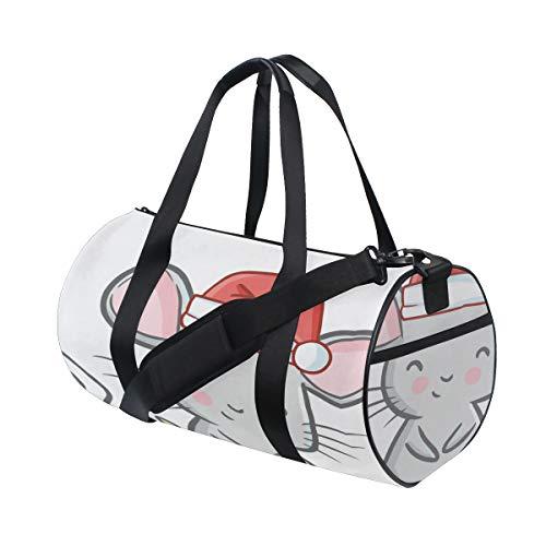 Smart Kleine Maus Tier Cartoon Multi Leichte Große Yoga Gym Totes Handtasche Reise Leinwand Duffel Taschen Mit Schulter Crossbody Fitness Sport Gepäck Für Jungen Mädchen Mens Womens