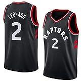 Kangrui Toronto Raptors #2 Kawhi Leonard Jersey Basketball Uniform Trikot Atmungsaktiv Basketball Weste Komfortable, Schnelltrocknend für Basketballfans
