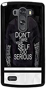 PrintVisa 2D-LGG3-D8044 Quotes Attitude Case Cover for LG G3