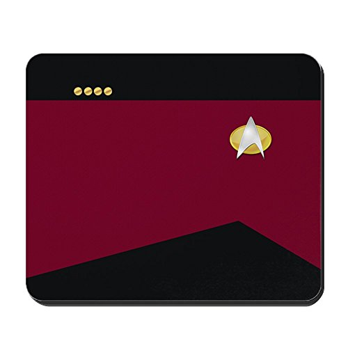 (CafePress – Star Trek: TNG Uniform – Captain – Anti-Rutsch-Mauspad aus Gummi)