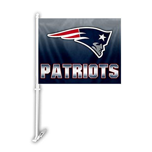 Fremont Die NFL Ombre Design Autoflagge, 28 x 36 cm, Unisex, 99711, weiß, Einheitsgröße