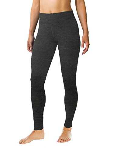 WoolX Avery Damen Woll-Leggings Midweight Merino Base Layer Pants Warm & Soft, Damen, Avery Leggings, Charcoal Heather, Small Thermal Base-layer Hose