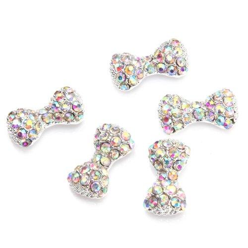 5Pcs Noeuds Papillon Cristal Nail Art Décoré Ongle Multicolore Par RAIN QUEEN