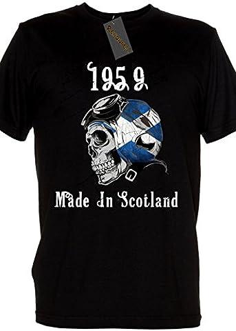 Renowned Ladies Black Shirt - Legend 1959 Made In Scotland Ladies Large Black T Shirt