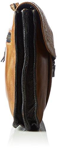 Taschendieb - TD0754, Borsa a tracolla Donna Multicolore (Mehrfarbig (cognac/cognac))