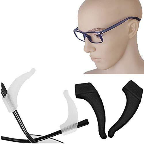 Bihood Ohrhaken Haken Ohrhaken über Ohrhaken Anti Slip Anti Slide Lite Brillenhalter Brillenständer Brillen Nasenpads Brillen Reparatur Kit Ohrring Haken Brillen Sonnenbrillen Tipp Sport Retainer