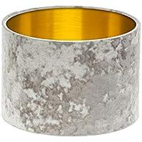 Grey Silver Crushed Velvet Drum Lampshade Brushed Gold Inner 20cm 25cm 30cm 35cm 40cm 50cm 60cm 70cm Lamp Shade Lightshade