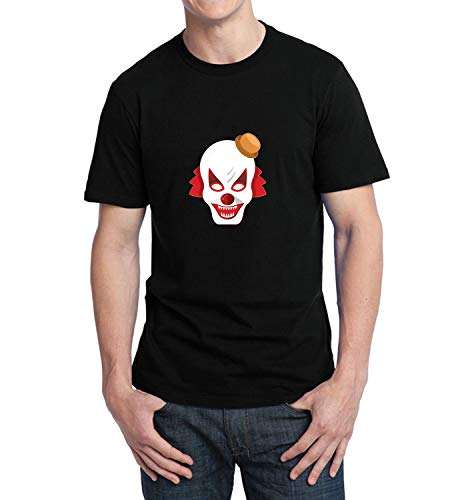 Halloween Scary Clowns Monsters_006239 T-Shirt Birthday for Him SM Men Black