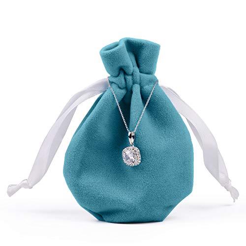 Oirlv 20pcs velluto coulisse sacchetti piccoli sacchetti in peluche per gioielli imballaggio display wedding party bags e velluto, colore: blue, cod. oirlv