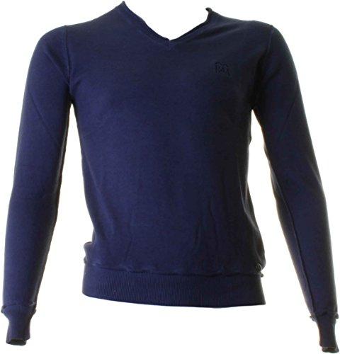 Baci & abbracci maglia scollo v uomo 100% cotone blu navy 540214-navy