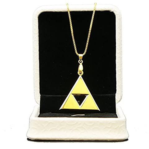 XCOSER® Triforce Pendant Cosplay 24K Gold Plated Necklace Keychain Set 2015 Birthday Gift Merchandise