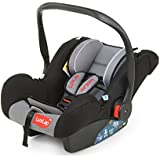 Luvlap Infant Baby Car Seat Cum Carry Cot and Rocker with Canopy (Grey)