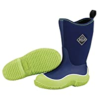 The Muck Boot Company Kids Hale Lime/Blue, The Original Neoprene lined wellie - for KIDS! UK Toddler 10