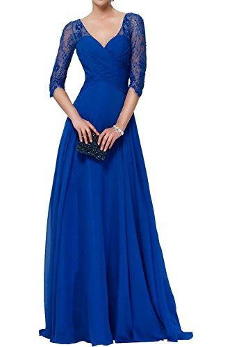 Victory Bridal - Robe - Trapèze - Femme bleu roi