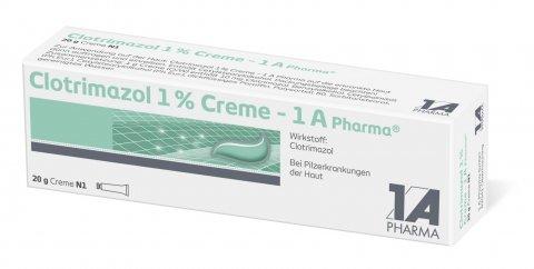 Clotrimazol 1% Creme Spar-Set 2x50g, anzuwenden bei Pilzerkrankungen der Haut -