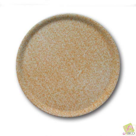 Lot de 6 assiettes à pizza - D 31 cm - Moucheté beige