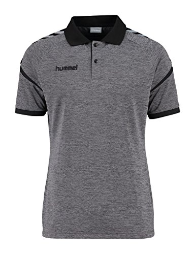 Hummel Auth. Charge Functional Polo - Dark Grey Melange, Grigio scuro mélange, XXXL