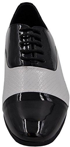derbies homme à lacets et à doublure intérieure cuir derbie 1 Noir-blanc