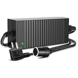 Trehai 120W 12V 10A Alimentation Électronique AC à DC Adaptateur, 100-220V/230/240V AC Prise d'Allume-cigare de Voiture à 12V DC Électricité Transformateur Convertisseur, AC DC Adapter