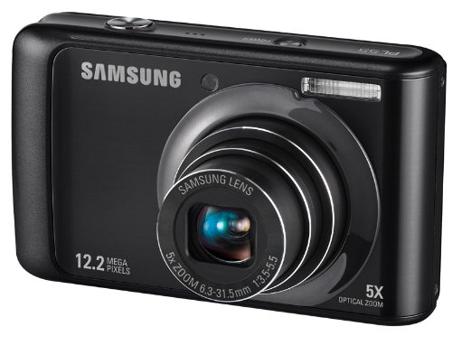 Samsung PL55 Digitalkamera (12 Megapixel, 5-Fach Zoom, 6,9 cm (2,7 Zoll) Display) Black Lcd 230k