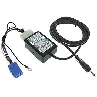AUX Line IN Adapter MP3 Interface Kabel Mini ISO Stecker Klinke kompatibel mit VAG Audi Seat Skoda