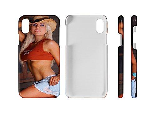 (LEotiE SINCE 2004 Handy Schale Passend für iPhone 8 Sexy Fun Sexy Girl Pin up Blond)