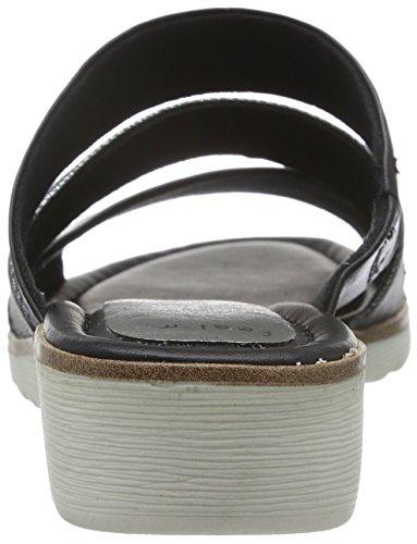 Marco Tozzi 27100, Sandales Bout Ouvert Femme Noir (Black Ant/Comb 096)