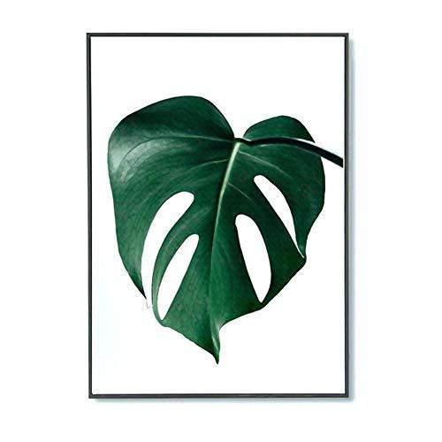 Wangwtry pittura murale verde foglie stampe su tela arte pittura botanica natura wall art poster per soggiorno camera da letto decorazioni per la casa no frame