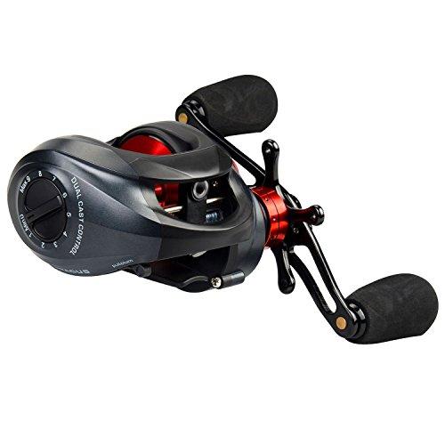 KastKing Spartacus Multirolle – Ultra Geschmeidige Angelrolle, Kohlenstofffaser-Bremse mit bis zu 8kg Bremskraft, 11+1 Kugellagern, Gummi-Kork Rollen-Knäufe