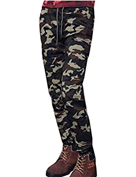 Zhhlaixing Ropa de deporte Mens Camouflage Slim Fit Trouser Pants Breathable With Pockets