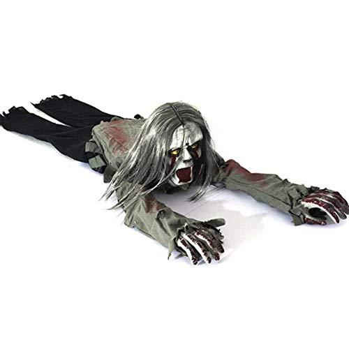 SIWEN Halloween-Dekorationen Kriechende Geister Sprachsteuerungs-Haar-Elektrischer Kriechender Geist Bar Haunted House Requisiten Horror Layout