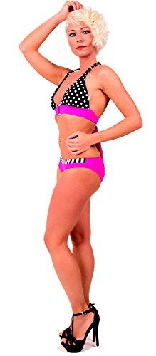 Arunta Neckholder Damen Bikini Set Push Up Top und Hose gepunktet Pink