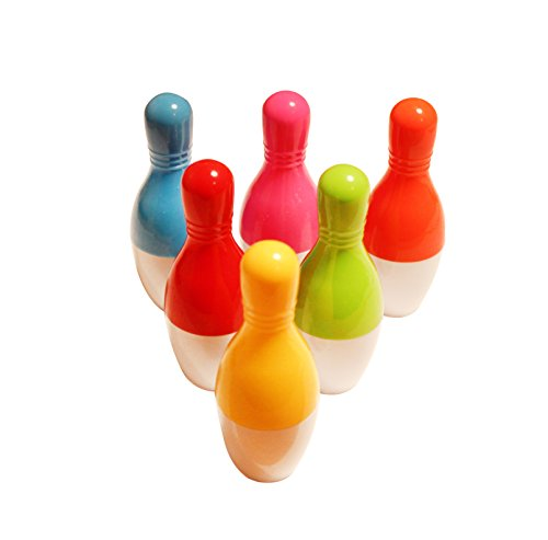6er Set - Witzige Kugelschreiber, Ausziehbarer Bowling Pin Kugelschreiber, gemischte Farben, lustige Kulis, Mini-Kugelschreiber, Retractable Pens, Geschenk für Studenten,Kinder, Bowling Fans,