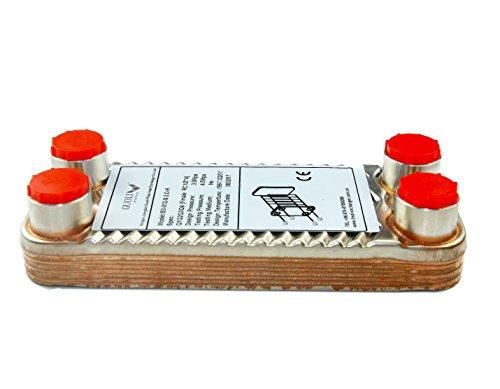 Edelstahl Wärmetauscher Plattenwärmetauscher Wärmetauscher Plattenwürzekühler 8 Platten für Bierbrauer RC1/2