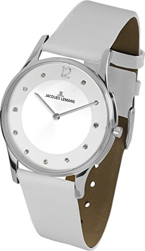 JACQUES LEMANS WOMEN'S CLASSIC LONDON 28MM LEATHER BAND QUARTZ WATCH 1-1851L
