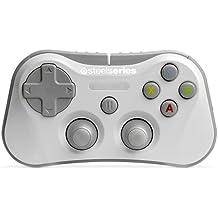SteelSeries Stratus - Controlador de juegos inalámbrico, Bluetooth, 12 botones, recargable, (IOS / iPad / iPhone / iPod Touch), blanco