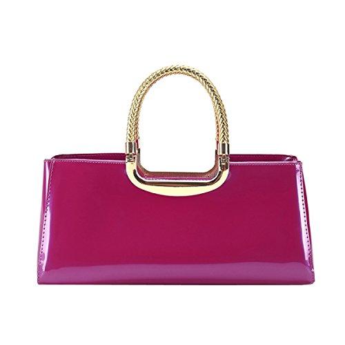 LAIDAYE Frau Mode Lackleder Abendtaschen Hand 8
