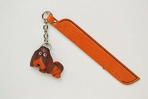 Basset Hound Leder Hund Charm Lesezeichen Vanca handgefertigt in Japan... -