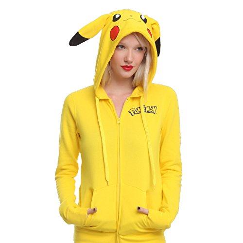 CTOOO-Sudadera-con-capucha-Dibujos-animados-Pikachu-de-y-manga-larga-con-capucha-suelta-para-mujer