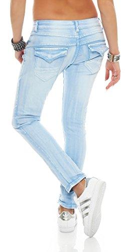 SKUTARI Damen - Jeans Boyfriend Blau 1